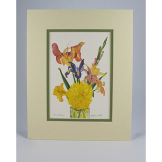 Matted Prints - Floral
