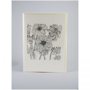 Dahlias - Etching