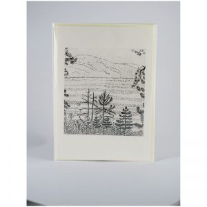 View of Lake Tahoe - Etching Notecard - Sleeved