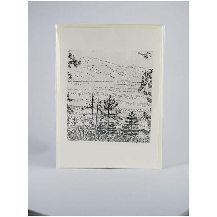 View of Lake Tahoe - Etching Notecard - Sleeved