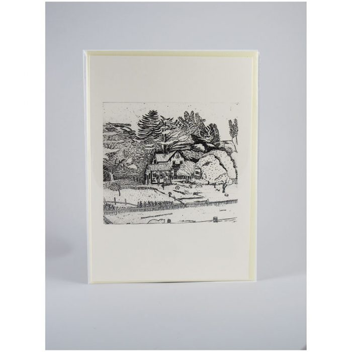 View from Valley Ford II - Etching Notecard - Sleeved