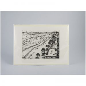 View of the Beach From Above - Etching Notecard