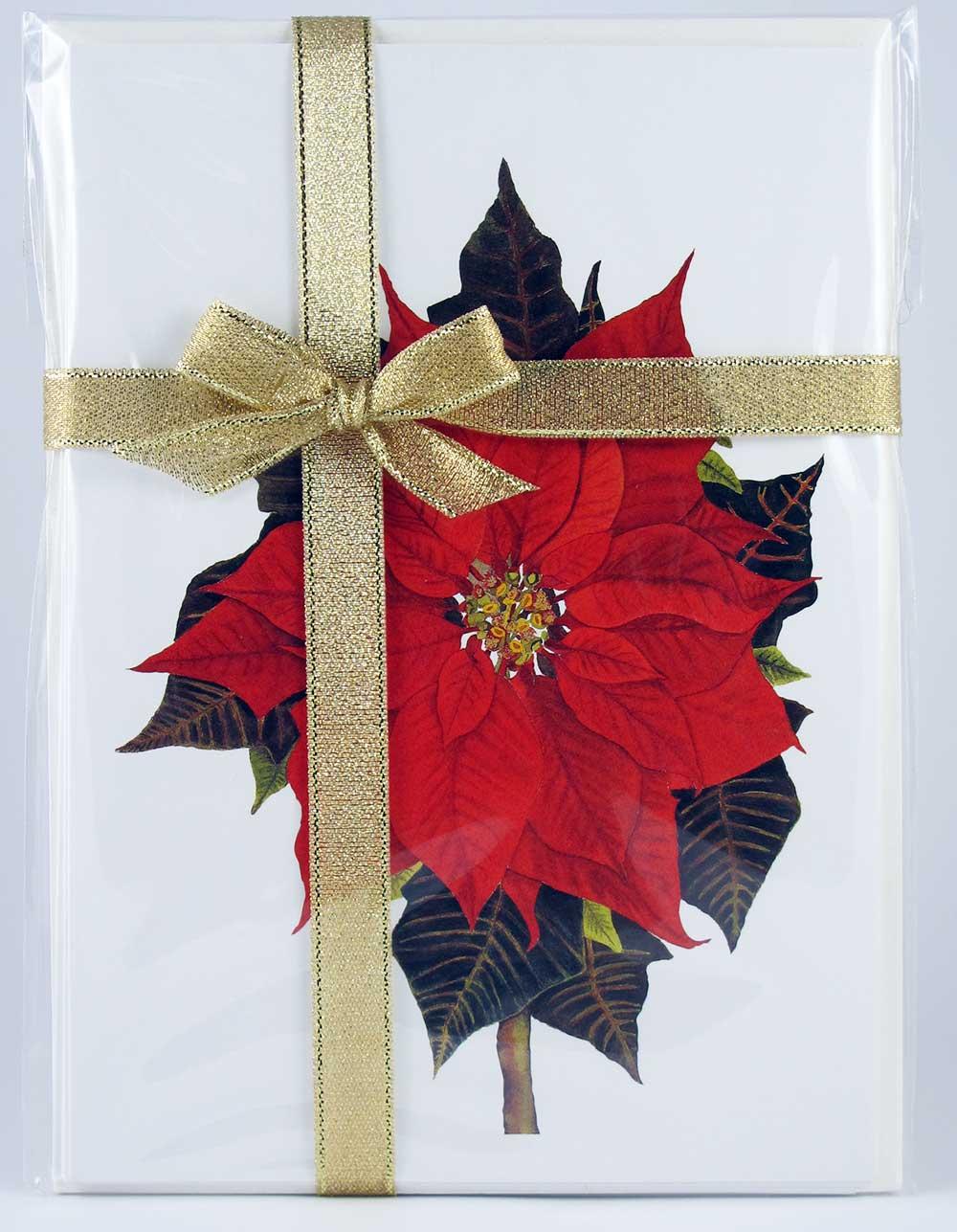 Poinsettia-Ribbon-Note-Pack