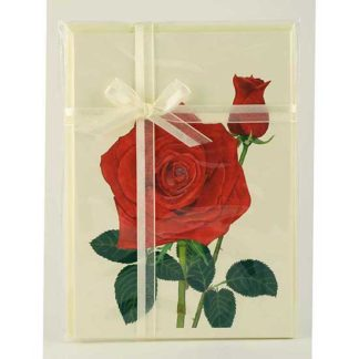 Ribbon Gift Packets - 4 Floral Cards